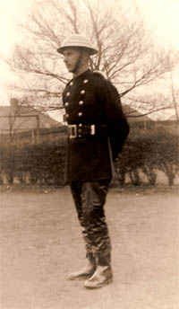 Banstead fireman early 1940s - Edward 'Ted' Dickens