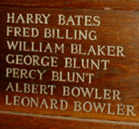 Percy Blunt, Wood Panel, All Saints Church Banstead