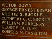 Cuthbert Charles Corbett Buckle,Wood Panel,All Saints Church Banstead.