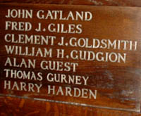 John  Gatland,Wood Panel, All Saints Church Banstead