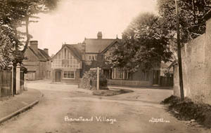 The site for the Banstead War memorial prior to its erection