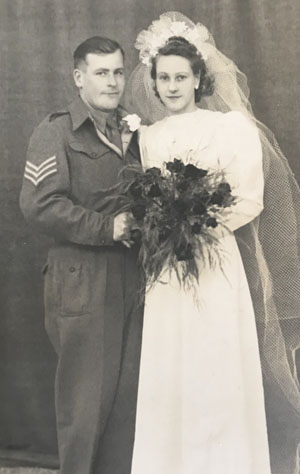 Ron Milton marries Winnie in 1945