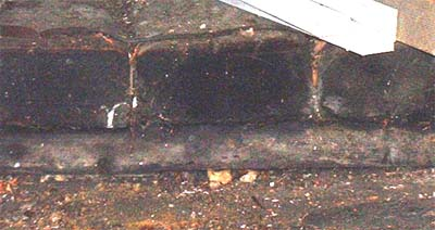 Timbers laid over the opening to the Well shaft